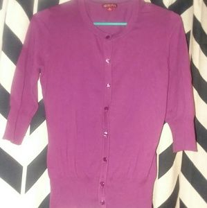 Merona Small cardigan button up Purple